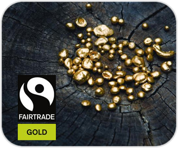 fairtrade fairmined gold button