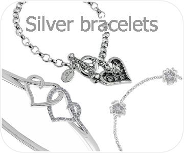 silver bracelets button